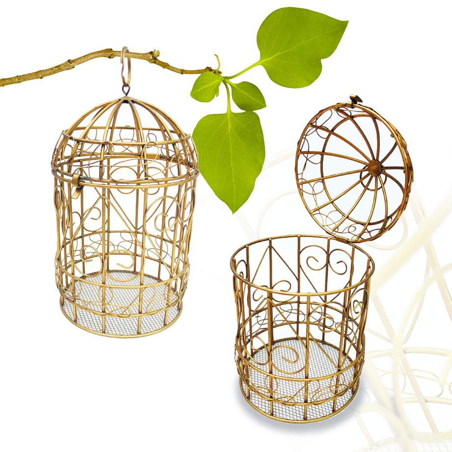 Cage arabesque en métal
