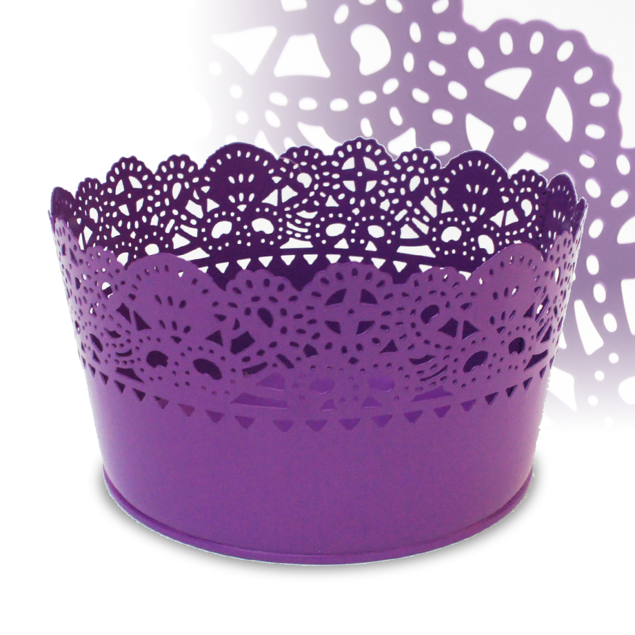 Lace effect Metal Basket